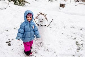 Le bonhomme de neige de Tamara et maman